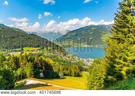 Lake Zell, German: Zeller See, At Zell Am See In Austrian Alps, Austria.
