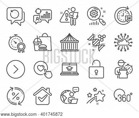 Technology Icons Set. Included Icon As Recovery Data, Forward, Best Result Signs. Carousels, Cloud N