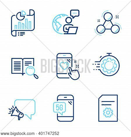 Technology Icons Set. Included Icon As Seo Timer, Heart Rating, Search Text Signs. File Settings, Ch