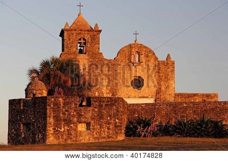 Presidio La Bahia at Sunset
