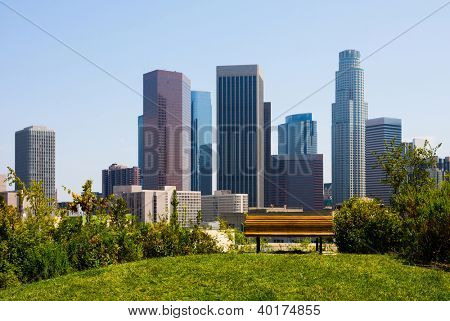 Skyscrapers in  Los Angeles California