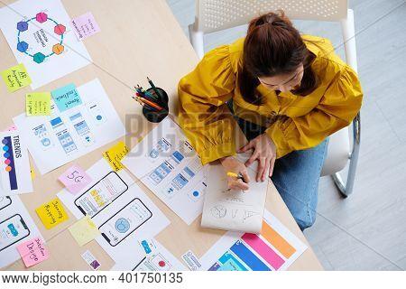 Website Designer, Creative Planning Phone App Development Sketch Template Layout Framework Wireframe