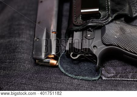 Loaded Magazine Of A Concealed Carry Handgun