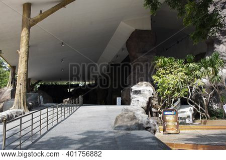 Modern Building In Wat Tham Klong Phen Forest Temple For Thai People And Travelers Travel Visit Resp