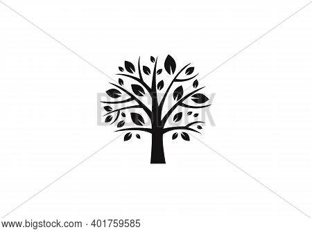 Tree Logo. Tree Icon Logo. Teamwork People Tree Logo Vector
