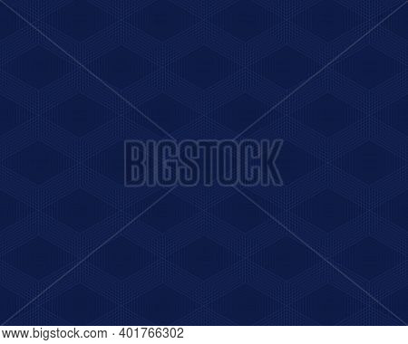 Abstract Blue Lines Geometric Minimal Repeating Background. Vector Illustration