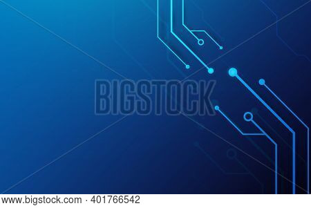 Abstract Lines And Dots Futuristic Technology Connection Digital Concept System Background. Vector I