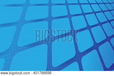 Abstract Minimal Geometric Perspective Background With Technology Hi-tech Futuristic Digital. Vector