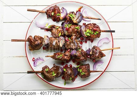 Grilled Beef Liver Kebabs