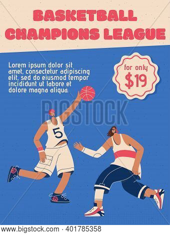 Vector Poster Of Basketball Champions League Concept