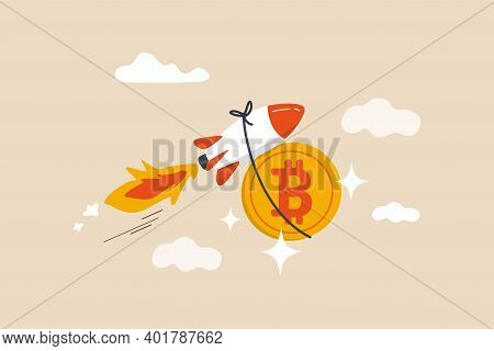 Bitcoin Price Skyrocket Hit Record High, Cryptocurrency Investor Got Rich With Growth High Value Tra