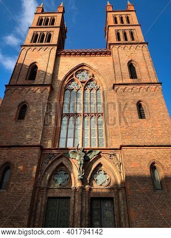 Low Angle View Of Neo-gothic Church Friedrichswerdersche Kirche, Designed By Architect Karl Friedric