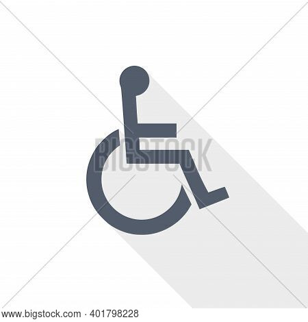 Wheelchair Vector Icon, Flat Design Illustration In Eps 10