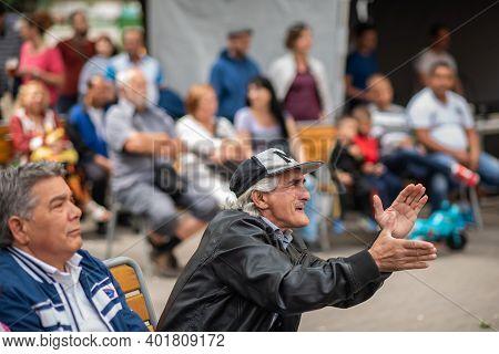 Brno, Czech Republic. 06-11-2016. Gypsy People Enjoying At A Festival Of Roma People (gypsies) In Br