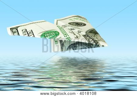 Money Plane Under Water