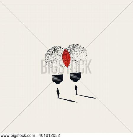 Business Brainstorming, Teamwork Symbol, Vector Concept. Sharing Ideas, Innovation, Invention Symbol