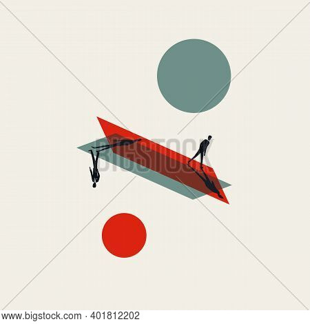 Business Disagreement, Different Opinion Vector Concept. Symbol Of Negotiation, Communication.