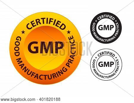 Good Manufacturing Practice (gmp) Certified, Yellow Colored Stamp Isolated On White Background