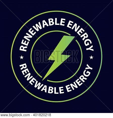 Energy Efficiency Abstract, Renewable Energy Vector Stamp