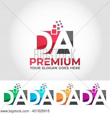 Da Alphabet Business Logo Design Company Concept