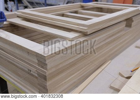 Frames Made Of Wood, Window Sashes Woodworking Equipment For The Production Of Natural Wood Products