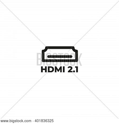 hdmi cable icon isolated on white background from hardware collection. hdmi cable icon trendy and modern hdmi cable symbol for logo, web, app, UI. hdmi cable icon simple sign. hdmi cable icon flat vector illustration for graphic and web design,hdmi cable