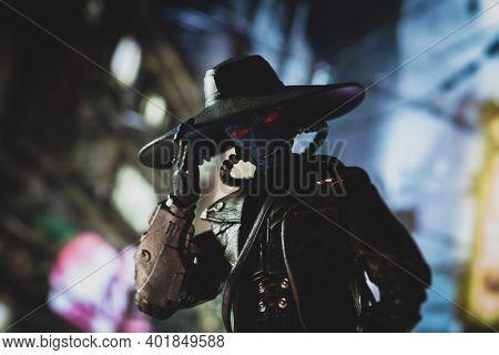 JAN 1 2021: Star Wars Duros bounty hunter Cad Bane from the Clone Wars era - Hasbro action figure