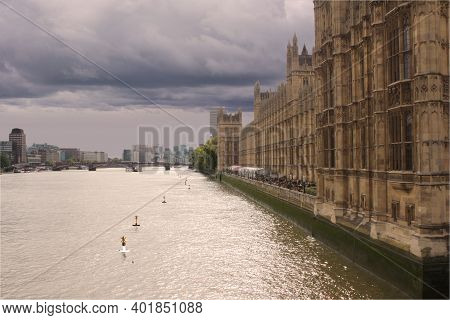 London Fime Thames And English Parliament London Fime Thames And English Parliament