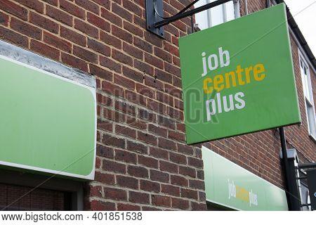 The Job Centre Branding In Blandford Forum In Dorset In The Uk, Taken On The 26th October 2020