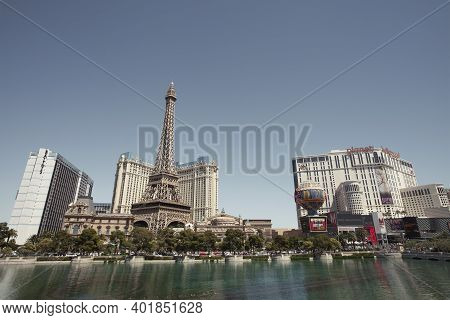 Las Vegas,nevada,usa -may 2014: Photo Of  Paris Hotel In Las Vegas. Paris Las Vegas Is A Casino Hote
