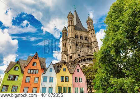 Church Gross St Martin In The Old Town Of Cologne, Germany