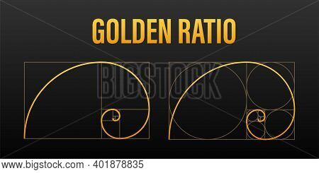 Golden Ration. Abstract Geometric Background. Vector Stock Illustration.