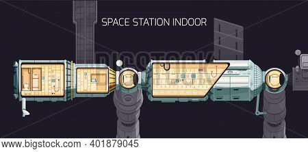 Orbital International Space Station Indoor Composition And You Can Look At The Station Premises From