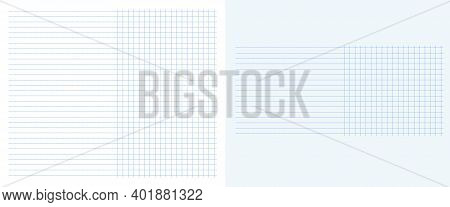 Vector Blank With Columns. Table Graph In Horizontal Line Together With Square Grid Dotted Lines Col