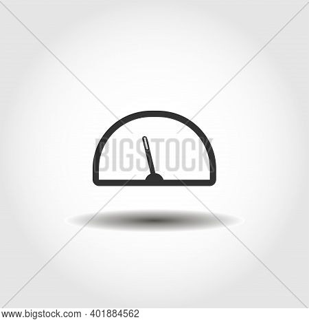 Car Dashboard Icon. Speedometer, Tachometer Isolated Vector Icon. Car Part Design Element