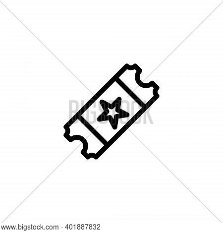 tickets icon isolated on white background from ecommerce ui collection. tickets icon trendy and modern tickets symbol for logo, web, app, UI. tickets icon simple sign. tickets icon flat vector illustration for graphic and web design,tickets