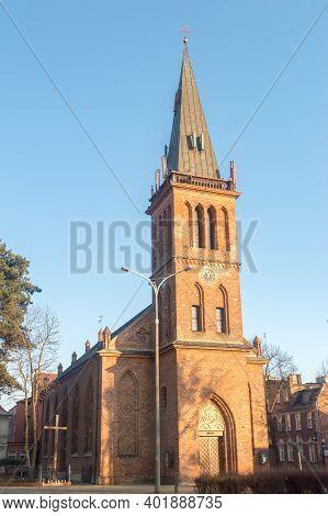 Gdansk, Poland - December 31, 2020: Roman Catholic Church Of St. John Bosco.