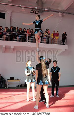 Kamianske, Ukraine - February 16, 2020: Cup Of Dnipropetrovsk Region From Cheerleading Among Solo, D