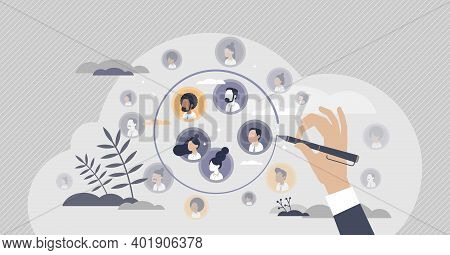 Target Audience Segmentation As Customer Group Selection Tiny Person Concept