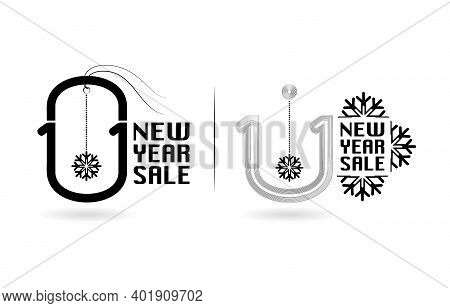 Tag 1.1 Sale, 1.1 Online Sale, New Year Sale Tag Monochrome And Label Monoline For Poster Or Flyer D