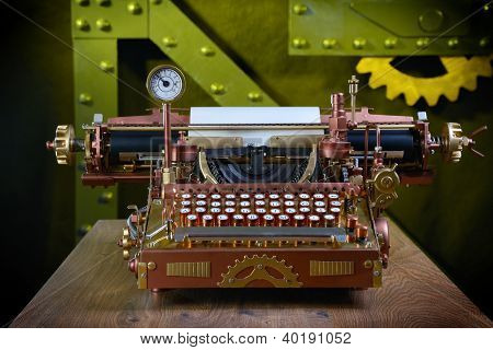 Steampunk Typewriter.