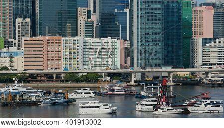 Kowloon Bay, Hong Kong 01 September 2020: Hong Kong city