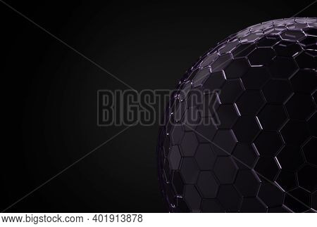 Mock-up Transparent Glass Dome. Dome Cover Background, Protection Barrier. 3d Rendering.