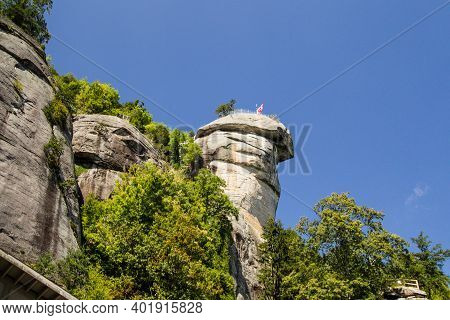 Chimney Rock At Chimney Rock State Park In North Carolina Is A 315 Foot Monolith In The Blue Ridge M