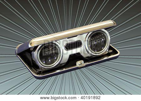 Silver Vintage Opera Binoculars