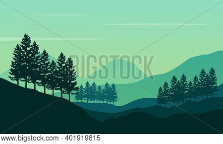 Beautiful Natural Sunrise Scenery In The Countryside. City Vector