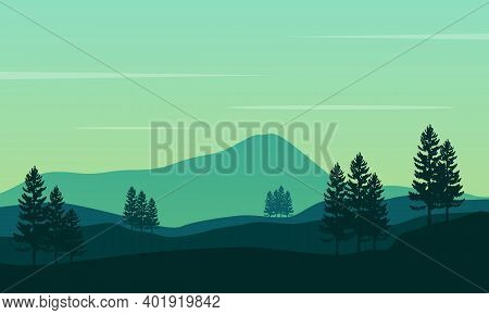 Calming Atmosphere And Natural Scenery In The Countryside. City Vector