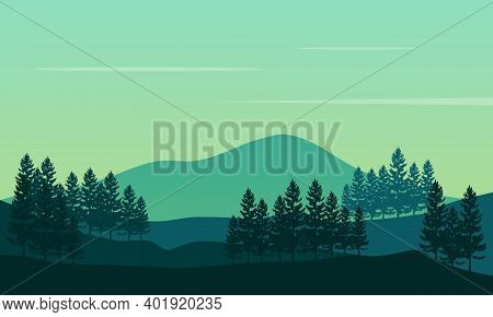 Soothing Atmosphere And Beautiful Scenery In The Morning. City Vector