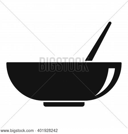 Stylist Hair Color Bowl Icon. Simple Illustration Of Stylist Hair Color Bowl Vector Icon For Web Des