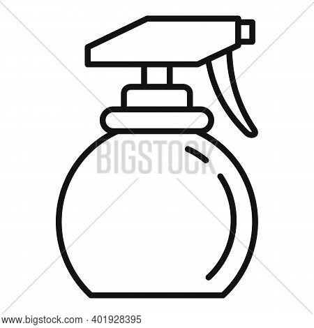 Stylist Water Spray Icon. Outline Stylist Water Spray Vector Icon For Web Design Isolated On White B